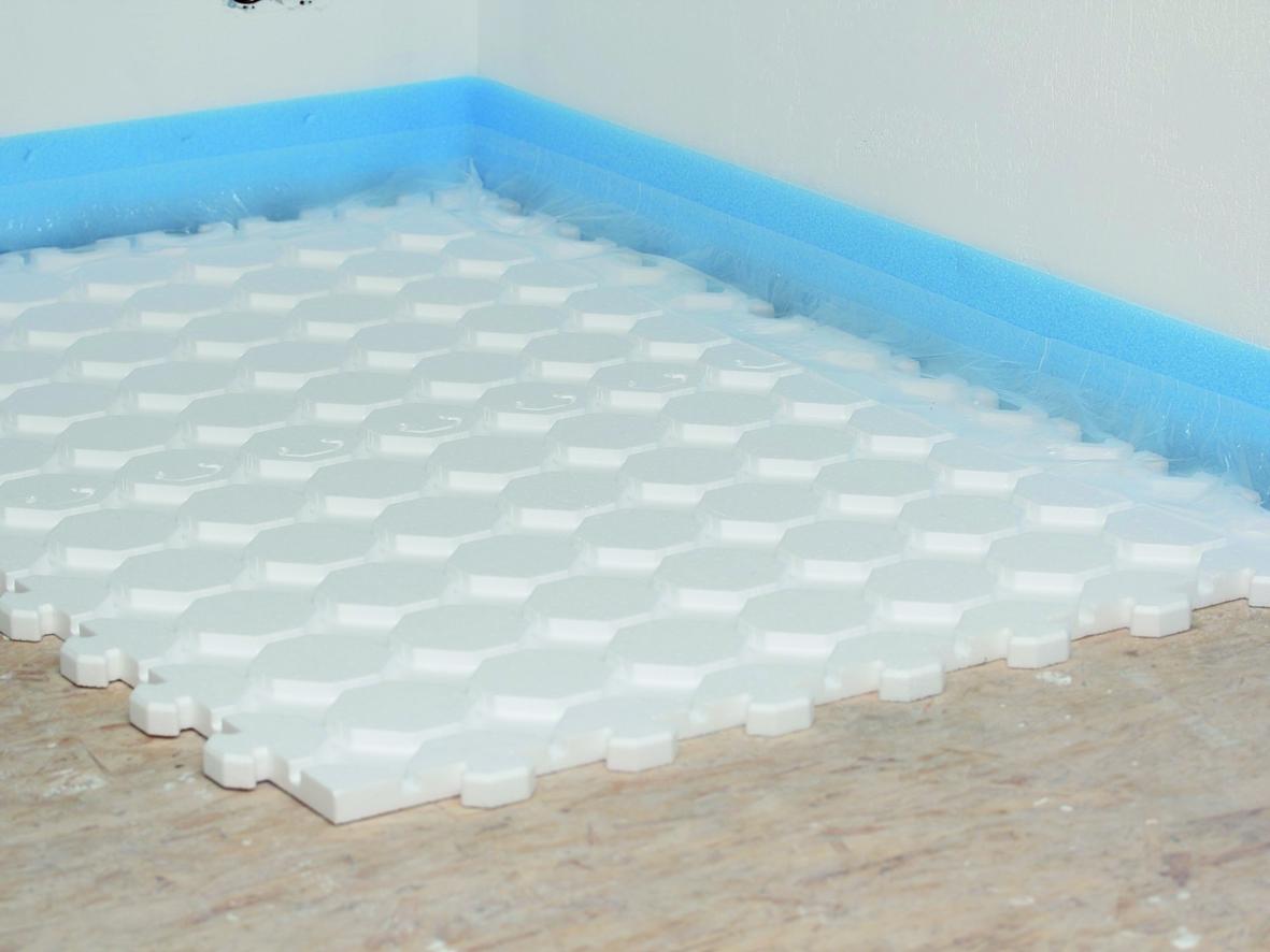 fussbodenheizung im trockenbau mit trockenestrich system. Black Bedroom Furniture Sets. Home Design Ideas